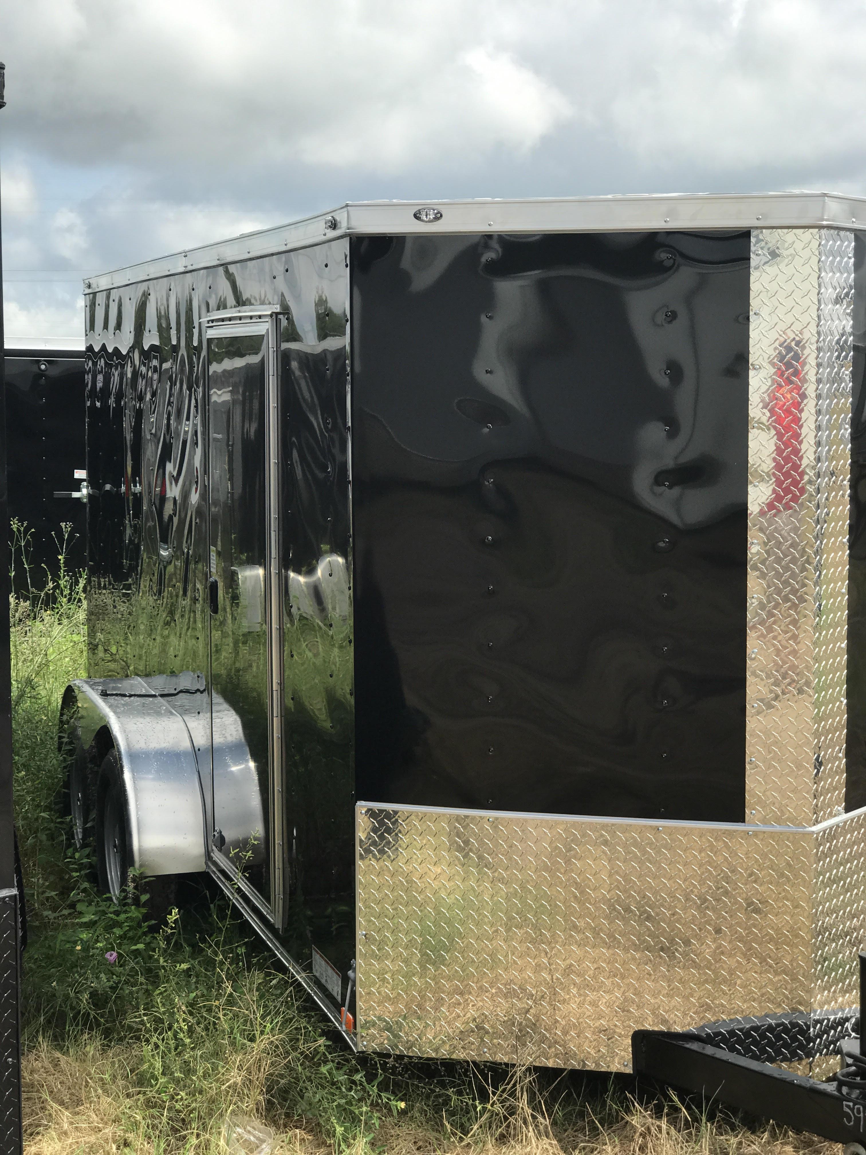 Black 6 X 12 TA Door Side