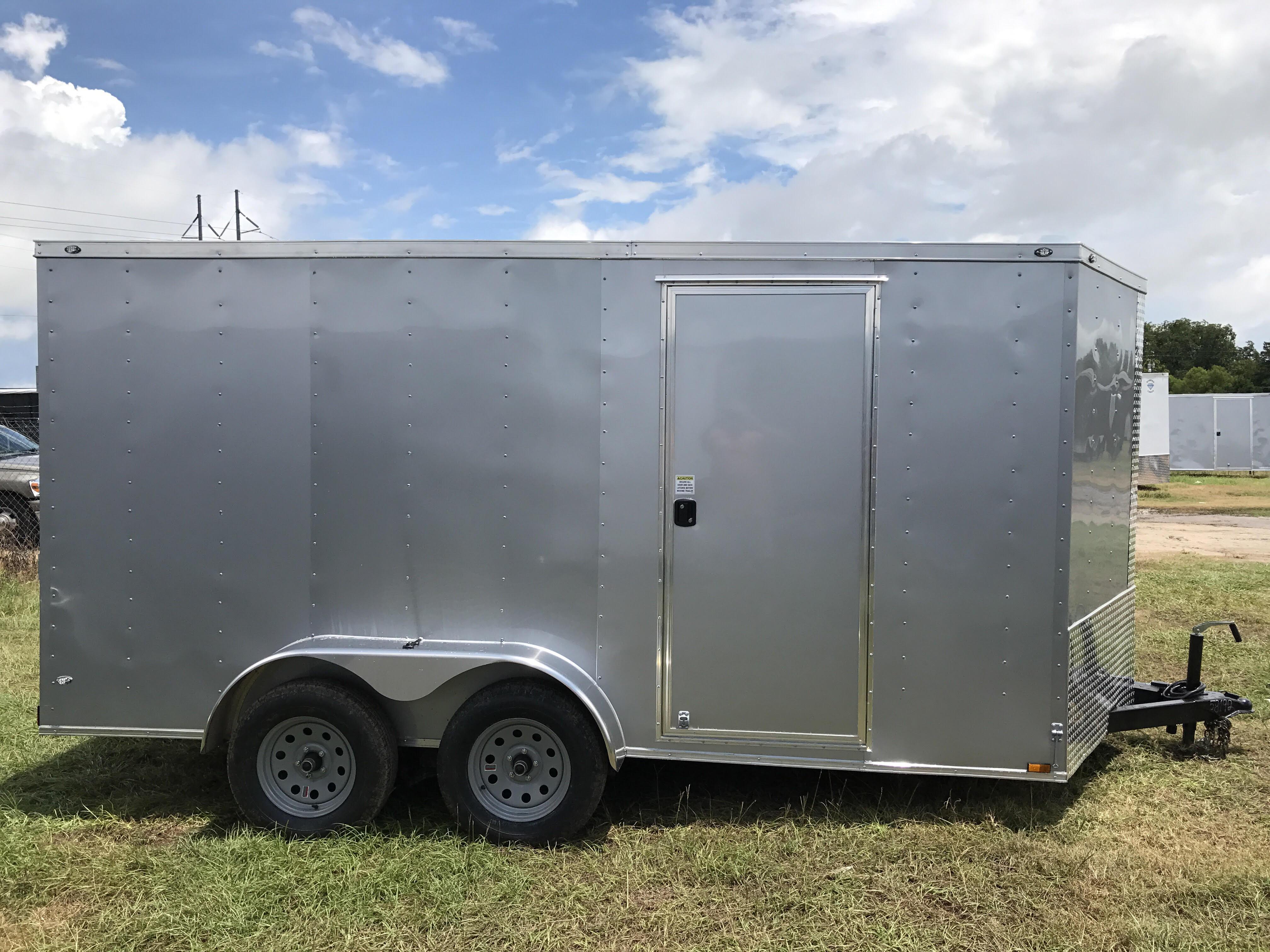 Silver 7 X 14 Door Side