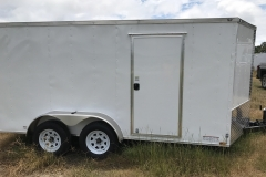 White 7 X 14 TA Door Side